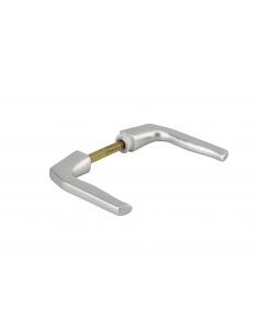 Paire de béquilles pour porte, carré 7mm, 1 portée, argent - THIRARD Poignée de porte