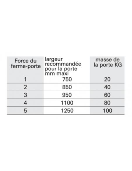 Ferme-porte automatique hydraulique Design force 3, bras coulissant, blanc - THIRARD Equipement